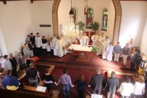 Bohoslužby v Šumperskom kostole.