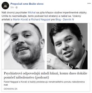 Starokatolícky kňaz Martin Kováč, baptistický kazateľ Richard Nagypal a psychológ Michal Patarák sa rozprávajú o náboženstve v 21. storočí.